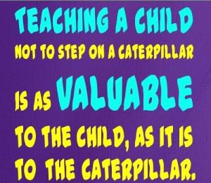 Don't step on catapillars